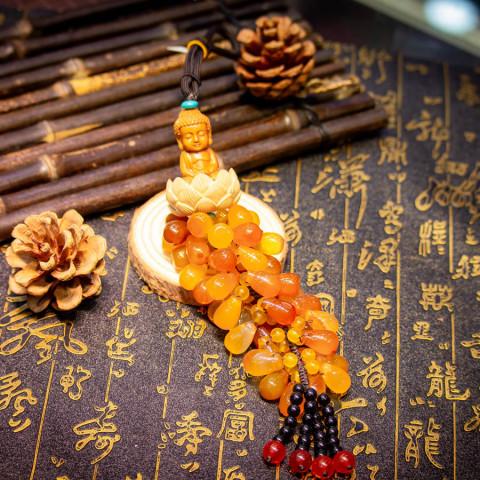 Móc Treo Ô Tô Phật Tọa Đài